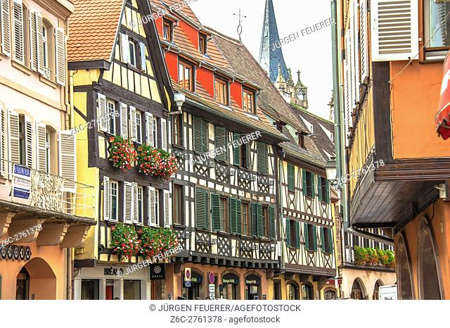 Obernai, picturesque town, scenic route of Vine Alsatian Lower Rhine, Alsace, France