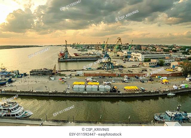 Aerial view of Klaipeda