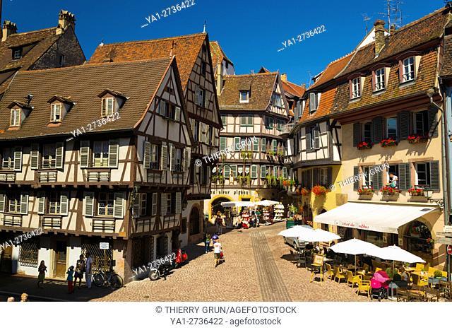 France, Haut-Rhin (68), Colmar town, Marchands street