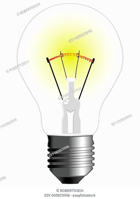 light bulb against white