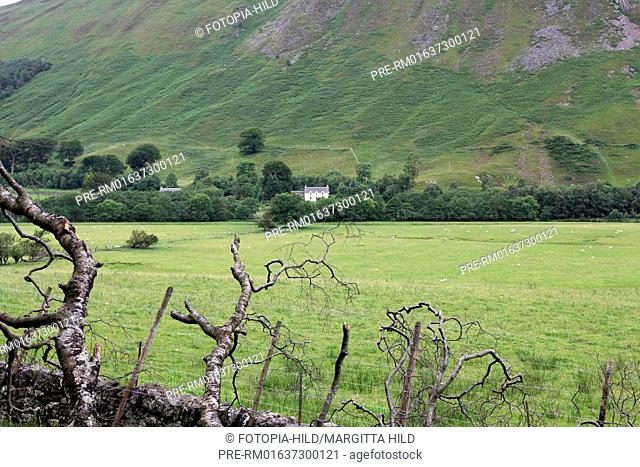 Side valley at Glen Lyon bei Bridge of Balgie, Perth and Kinross, Highlands, Scotland, United Kingdom / Seitental im Glen Lyon bei Bridge of Balgie