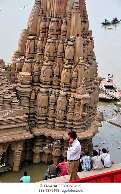 Temple by the Ganges river