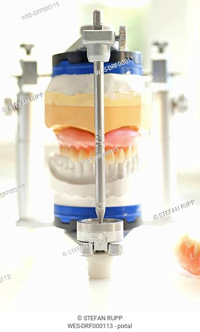 Germany, Freiburg, Articulator on white table, close up