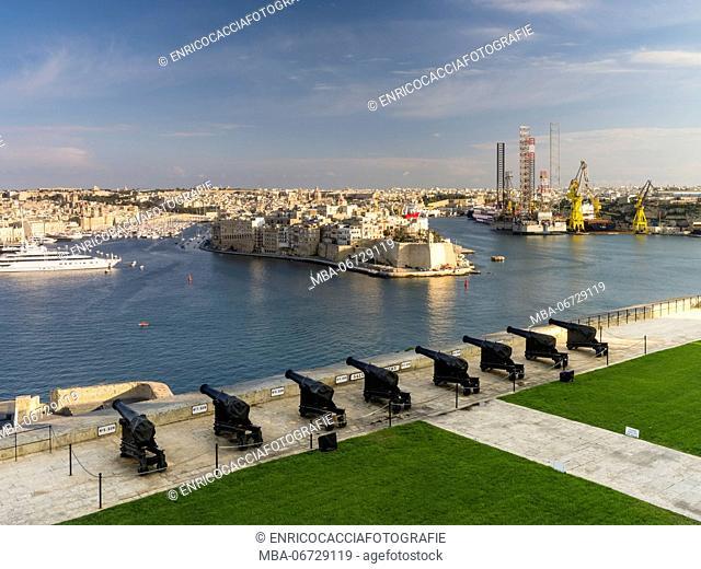 Saluting Battery in Valletta on Malta