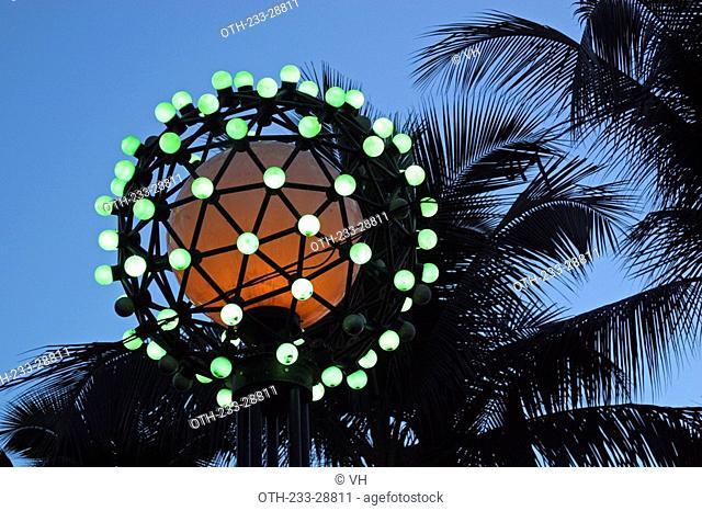 Lamp post on Roxas Boulevard, Metro Manila, Philippines