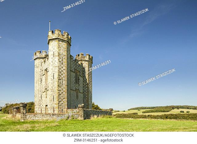 Hiorne Tower in Arundel Park, West Sussex, England