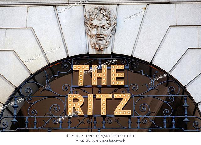 The Ritz hotel, Piccadilly, London, UK