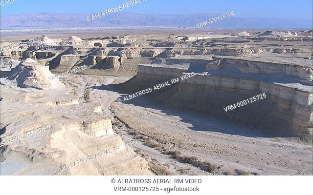 Aerial footage of the Judea desert