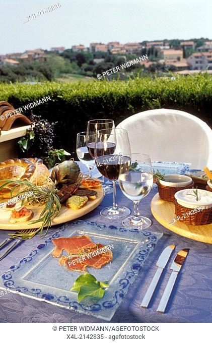 food Istrian prosciutto Croatia