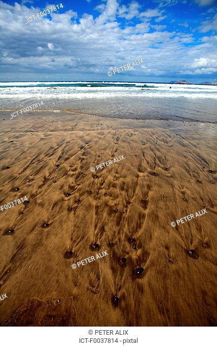 Spain, Canary islands, Lanzarote, beach of Famara