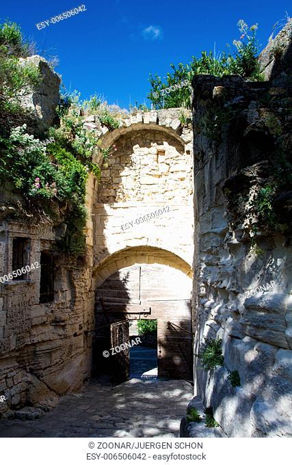 Medieval gate of Les Baux de Provence
