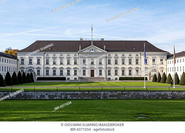 Schloss Bellevue, Bellevue Palace, official residence of the President of the Federal Republic of Germany, Berlin, Germany
