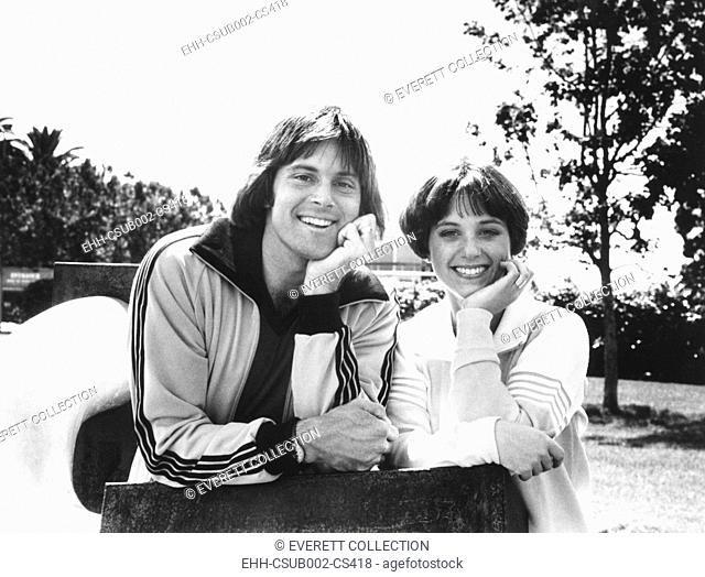Olympic Gold Medal winners Bruce Jenner and Dorothy Hamill in April 1978. Jenner appeared on an ABC Television Special, DOROTHY HAMMILL PRESENTS WINNERS