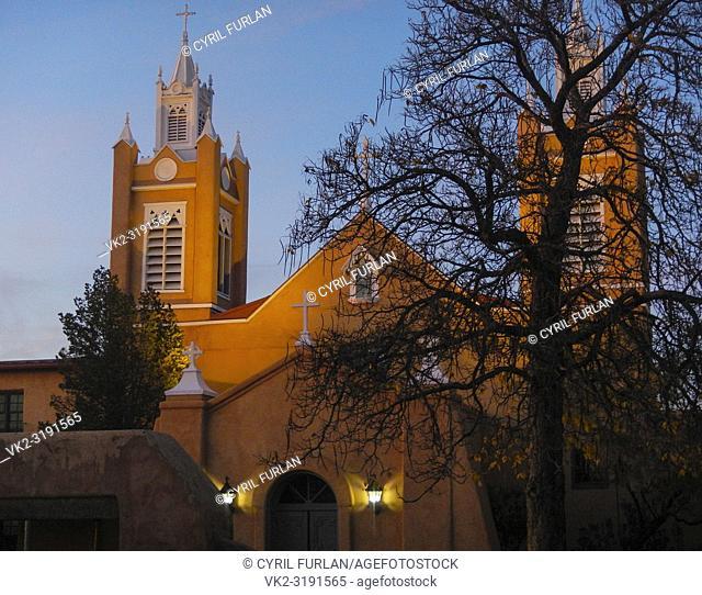 San Felipe De Neri Mission Church Old Town Square Albuquerque, New Mexico 1793
