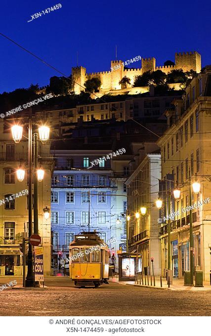S  Jorge Castle, Lisbon, Portugal, Europe