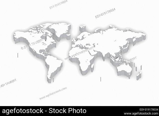 Weltkarte in 3D