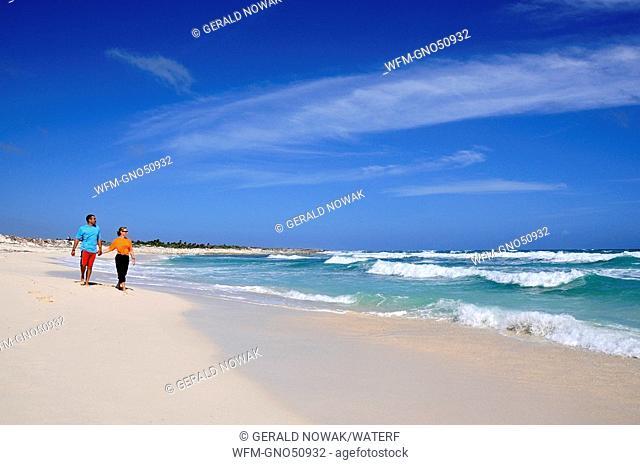 Tourists on the Beach of Cozumel, Caribbean Sea, Mexico