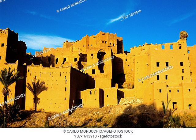 Ouarzazate the old city Medina is nicknamed The door of the desert, Morocco, Africa