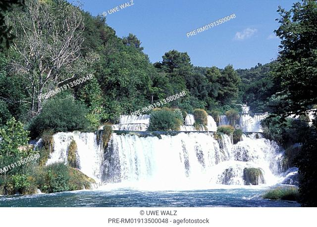 Waterfall, Roski Slap, Krka National Park, Croatia