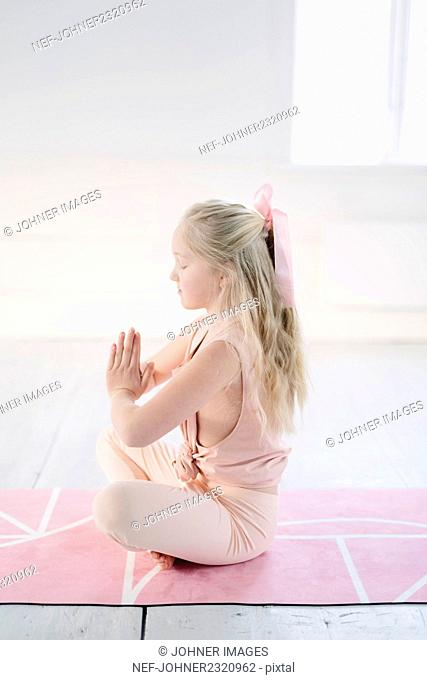 Girl doing meditation