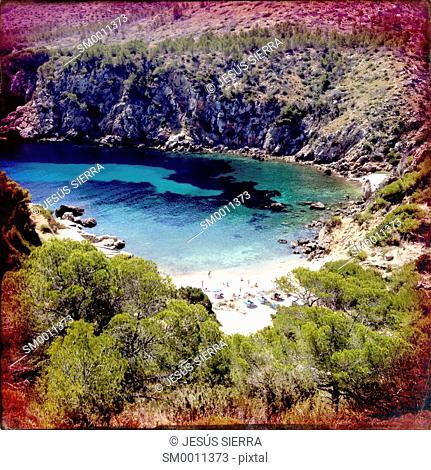 Cala d'en Serra beach, Ibiza, Spain