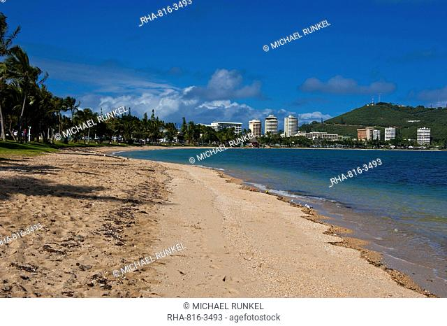 Waterfront and beach in Noumea, New Caledonia, Melanesia, South Pacific, Pacific