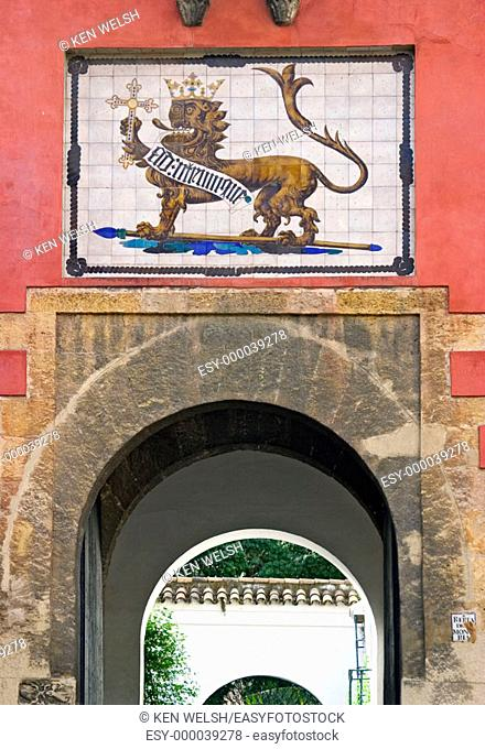 Gate to Reales Alcázares. Seville. Andalusia, Spain