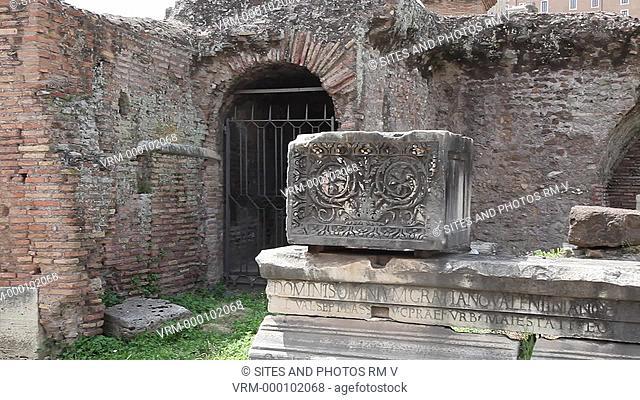 Roman Forum Forum Romanum, Forum's Central Square. Rome, Italy
