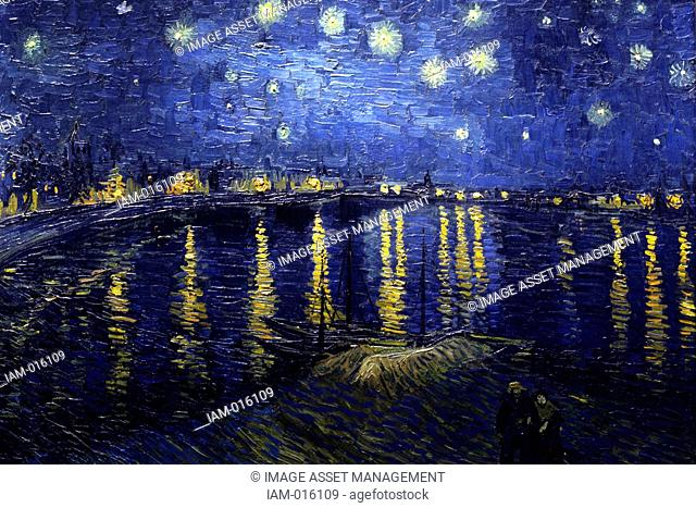 Starry Night Over the Rhone September 1888 by Vincent Willem van Gogh 30 March 1853 – 29 July 1890, Dutch post-Impressionist painter