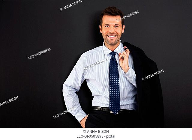 Portrait of handsome smiling businessman, Debica, Poland
