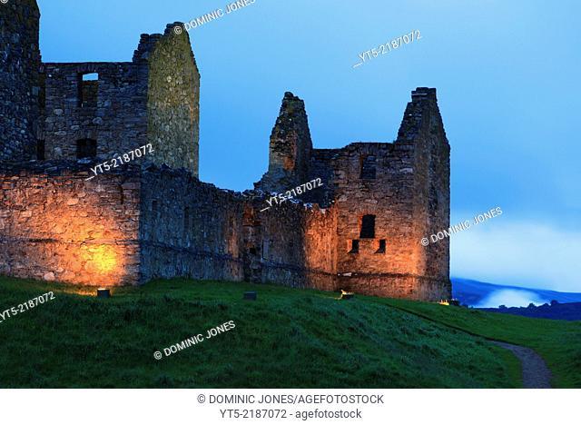 The historic remains of Ruthven Barracks, near Kingussie, Highlands, Scotland, Europe