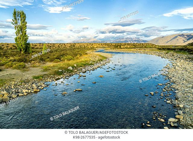 Argentina, Patagonia, El Calafate, Landscape with Centinela river