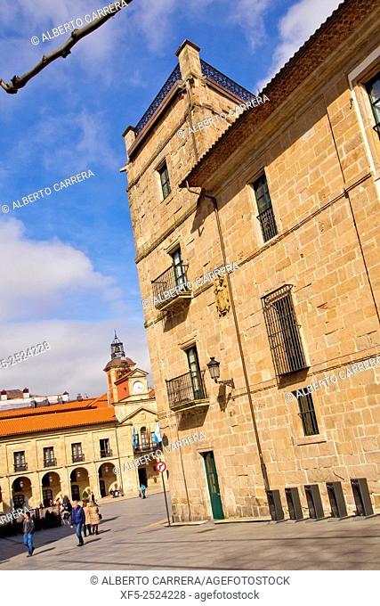 Ferrera Palace and City Hall, Avilés, Asturias, Spain, Europe