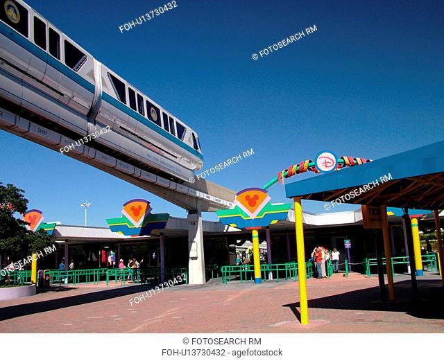 Orlando, FL, Florida, Walt Disney World Resort, Magic Kingdom Park, Monorail (Editorial Use Only)