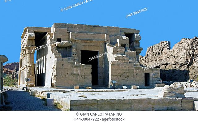Dendera Egypt, ptolemaic temple dedicated to the goddess Hathor. The mammisi