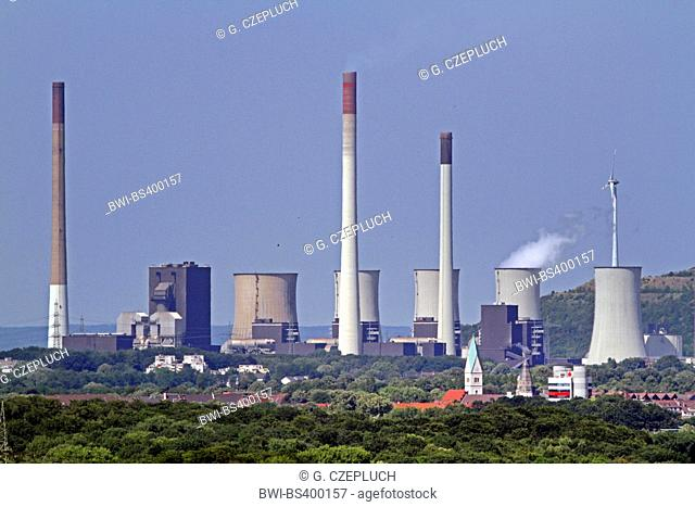 Scholven Power Station, Germany, North Rhine-Westphalia, Ruhr Area, Gelsenkirchen