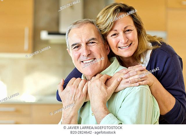 Adult couple in the kitchen