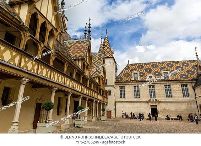 Hospices de Beaune, Hotel-Dieu, Beaune, Burgundy, France