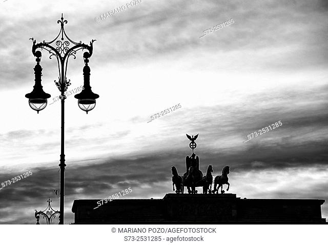 Quadriga on the Brandenburg Gate in Berlin, Germany