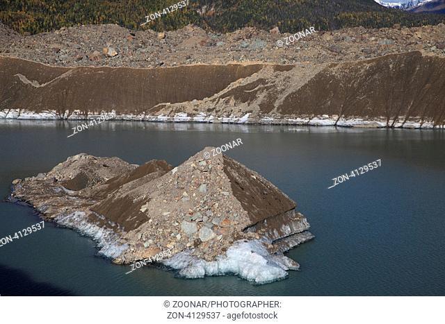 Gletscherfront des Kennicott und Root Gletschers