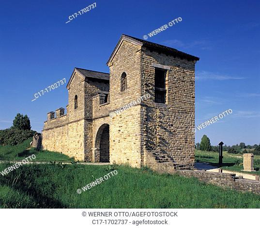 Germany, Welzheim, Welzheim Forest, Schurwald, Swabian Forest, Baden-Wuerttemberg, Roman Empire, archaeological park Ostkastell, German Limes Road