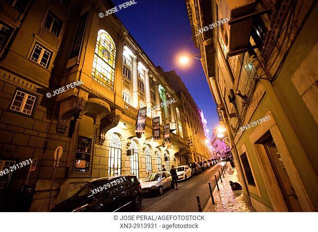 Shopping and Cultural Center, Centro Comercial e Cultural Espaço Chiado, Street Nova da Trindade, Lisbon, Portugal, Europe