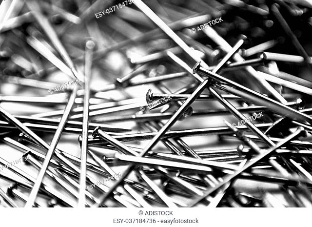 abstract industrial background. pushpins macro