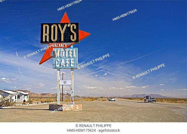 United States, California, Route 66, Amboy, Roy's Cafe, motel and restaurant