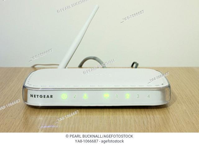 Studio still life  Netgear wireless modem router
