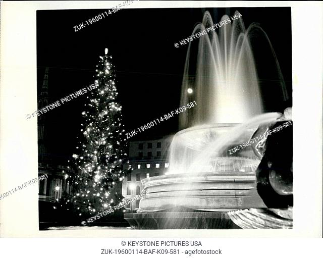 1962 - The Annual Christmas Tree from Norway is Switched On in Trafalgar Square. (Credit Image: © Keystone Pictures USA/ZUMAPRESS.com)
