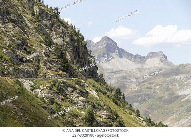 The little train of Artouste is the highest passengers train of Europe and run from Artouste town to alpine lake of Artouste Ossau valley South of France