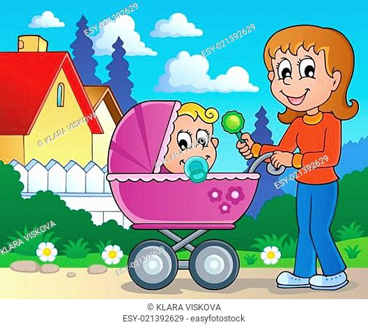 Baby carriage theme image 2