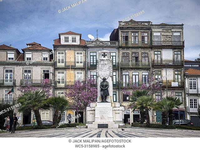 praca carlos alberto square in old town central porto portugal