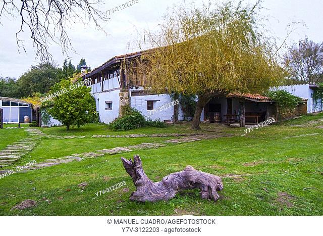 Restaurante Aspaldiko, in a one hundred year old caserio (typical Basque farm). Loiu, Biscay, Basque Country, Spain